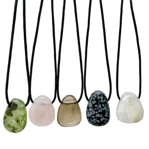 Gemstone Leather Necklaces