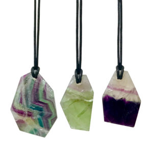 Fluorite Leather Necklaces