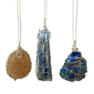 Wire Wrapped Gemstone Necklaces