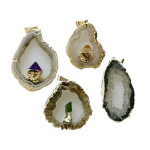 Geodine Slice Pendants